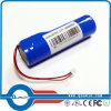 Bateria de lítio 18650 recarregável, capacidade 3.7V 2600mAh média da tensão