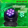 LED DMX RGBW 스트로브 광속 세척 이동하는 맨 위 빛