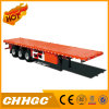 Semitrailer 40FT do recipiente da base lisa de 3 eixos