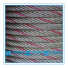 Rotes angestrichenes Stahldrahtseil-Kabel