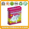 Rechteckiger Nahrung- für Haustierezinn-Kasten für das Katze-Plätzchen-Verpacken