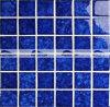 mosaico lustrato cristallo blu scuro del reticolo del fiore di 48X48mm (BCK641)