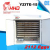 Incubadora inteiramente automática da galinha de Hhd para 2112 ovos (YZITE-15)