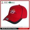 Gorra de béisbol de la manera del diseño del cliente en rojo