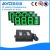 Hidly 12 인치 녹색 낮은 전압 LED 주유소 표시