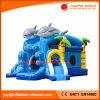 Het Opblaasbare Stuk speelgoed van China/het Springen Dolfijn Combo met Dia (T3-430)