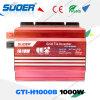 Suoer 1000W 24V 230V no inversor da potência solar da grade com tecnologia de MPPT (GTI-H1000B)