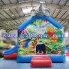 Aufblasbares springendes federnd Haus-Schloss für Kinder/Aktivität zieht sich Prahler-aufblasbares Partei-Haus mit Wasser-Plättchen zurück