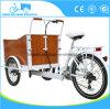 Vélos hollandais de tricycle de cargaison de type de Bakfiets avec la batterie