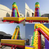 Iaapa Hot Sale Inflatable Sports Game Inflatable Climbing Wall with Slide