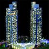 Kontrollturm Building Model mit Internal Apartment Lighting Control (BM-0026)