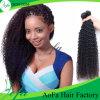 熱い販売の加工されていないインドの巻き毛のRemyの毛の人間の毛髪の拡張