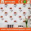 Papel de parede decorativo com floral moderno
