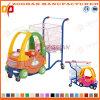 Chariot à magasins de supermarché en plastique avec voiture à jouet (Zht51)