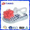 Sandalia cristalina al aire libre del PVC de la nueva muchacha del diseño con la flor (TNK50022)