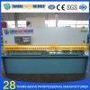 Máquina de corte hidráulica da chapa de aço do CNC de QC12y