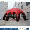 Гигантские красные и черные рекламируя раздувные ноги шатра 8 купола