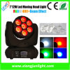 LED Moving Head Beam Wash Light 7X12W RGBW