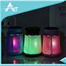 El LED colorea la lámpara que enciende el altavoz sin hilos Bluetooth Ds-714 para usar al aire libre
