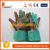 Van de Katoenen van de Regenboog van Ddsafety 2017 de Handschoen van de Tuin van de Punten van het Manchet het Tuinieren Band