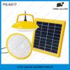 Mini jogo solar de dois bulbos com o carregador do telefone do USB