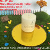 4mm Round Yellow Glass Candle Holder