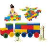 Kinder haben Spaß-Baustein-Spielzeug