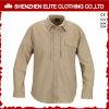 Рубашки работы втулки серой обеспеченностью длинние для людей (ELTHVJ-305)