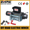 9500lbs del cable del vehículo del camino 4X4 que tira del torno con la cuerda de alambre
