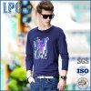 Vêtement de s d'hommes faits sur commande de mode 'pour le T-shirt bleu d'impression