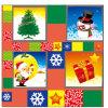 Mantel plástico de la Navidad del PVC de la Navidad del partido al por mayor barato de las decoraciones