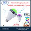 Haut-parleur sec d'ampoule d'éclairage LED de Bluetooth pour la lampe à la maison