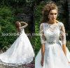 Платья венчания Vestido втулок шнурка 3/4 мантий венчания шнурка De Noiva W14905