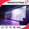 Schermo trasparente della tenda LED di griglia P25 per la video pubblicità