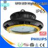 Luz industrial do diodo emissor de luz da fábrica do UFO 200W da luz da venda quente