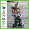 Statua elaborante di pietra di Gnome del giardino (NF13101-1)