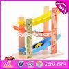 Trilha de madeira W04e052 do carro do brinquedo das crianças engraçadas novas dos níveis do projeto 3