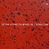 De goedkope Kunstmatige Rode Tegel van de Steen van het Kwarts voor Vloer en Muur