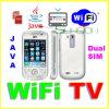 Мобильный телефон WiFi TV, двойной диапазон V106I квада SIM