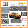 Les accessoires de chrome d'ensembles complets pour prennent les pièces complètes des kits Np300 de chrome de voiture complète de kit de corps de Nissan NP 300 Navara de camion