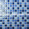 tegel van het Mozaïek van het Zwembad van het Mengsel van 23X23mm de Blauwe Glanzende Ceramische (BCH003)