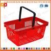 Cesta de compra do punho do supermercado plástico barato do OEM do preço única (Zhb149)