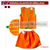 Decoração do feriado da novidade do terno do traje do carnaval de Halloween da abóbora (COS8015)
