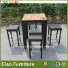 Furniture esterno Wicker/Rattan Bar Chair e Table con Plastic Wood