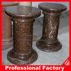 Polished Nature Brown Marble Column