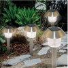 Les lumières solaires de jardin d'acier inoxydable