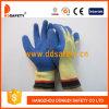 Вкладыша волокна Aramid 10 датчиков перчатка Dcr311 безопасности законченный отрезока Crinkle латекса желтого голубая упорная