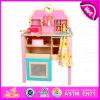 Da cozinha nova de 2015 brinquedo ajustado cabritos do projeto, jogo de madeira do jogo da cozinha das crianças do brinquedo de DIY, brinquedo ajustado W10c150 da cozinha favorita Non-Toxic do bebê