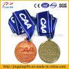 2016卸し売り高品質第2および3Dロゴの金属多彩なリボンが付いているメダル彫版メダルを遊ばす