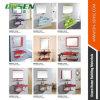 Gabinete de banheiro de vidro da cor simples com espelho